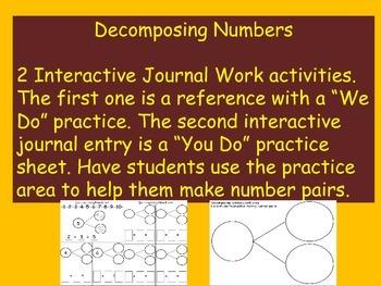 Decomposing Numbers Interactive Journal Work