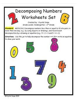 Decomposing Numbers Worksheets (Numbers 2-10)