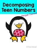 Decomposing Teen Numbers Book: Penguin Themed