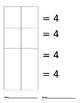 Decomposing numbers recording sheet