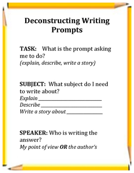 Deconstructing Writing Prompts