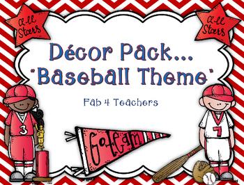 "Decor Pack...""Baseball Theme"" {Editable}"