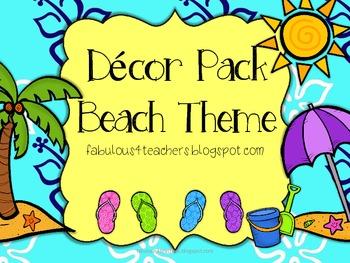 Decor Pack Beach Theme {Editable}