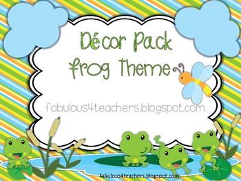 Decor Pack Frog Theme {Editable}