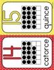 numeros conjunto de posters: polka dots