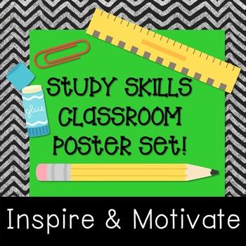 Study Skills Classroom Decor - Posters!