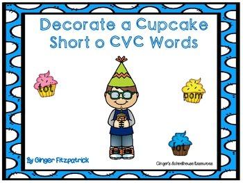 Decorate a Cupcake Short o CVC Words Game