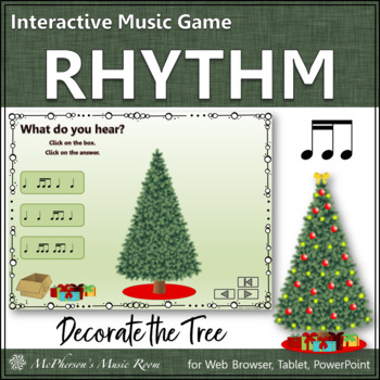 Decorate the Christmas Tree Interactive Rhythm Game {2 Six