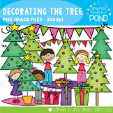 Decorating the Christmas Tree Clipart