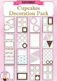 Editable Decoration Pack - Cupcakes