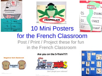 Decorations for the French Classroom, 10 mini-posters