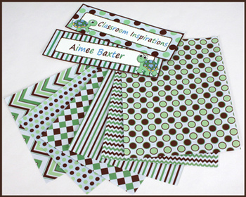 Decorative Accent Papers - Coordinates with Turtle Time Cl