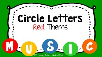 Decorative Circle Letters - Red Theme