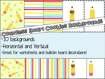 Back to School Backgrounds- Pencil and Stripes