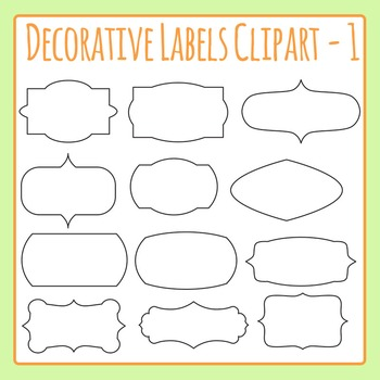 Decorative Label Border Clip Art Pack 01 for Commercial Use
