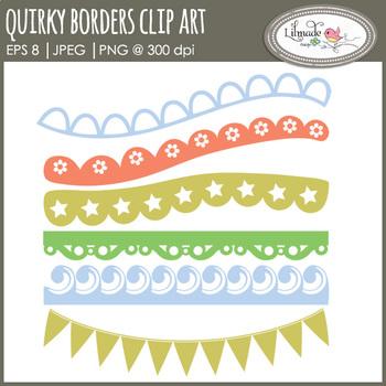 Decorative border clipart, lace border clipart, scallop bo