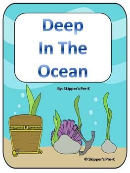 Deep In the Ocean Unit - Word Wall, Missing Letter, Match Number