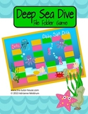 Deep Sea Diving Customizable File Folder Game