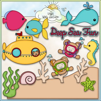 Deep Sea Fun 1 - Commercial Use Clip Art & Black & White Images