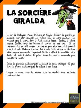 Défi mathématique « La sorcière Giralda » – 1er cycle [FRE