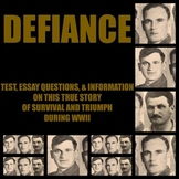 Defiance - the film (based upon a true story) (test, quest