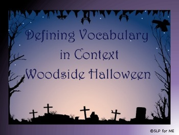 Defining Descriptive Vocabulary in Context - Halloween Theme