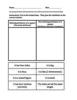 defining versus non defining attributes of by jenni keddie de cojon teachers pay teachers. Black Bedroom Furniture Sets. Home Design Ideas