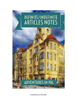 Definite & Indefinite Articles Notes