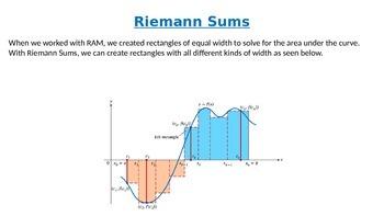 Definite Integrals and Riemann Sums