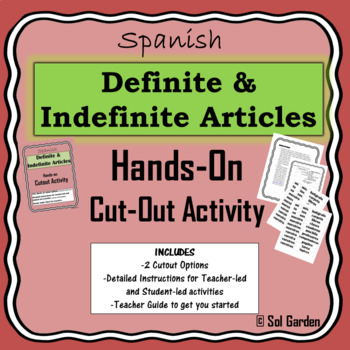 Definite and Indefinite Articles in Spanish - Hands-on Cut