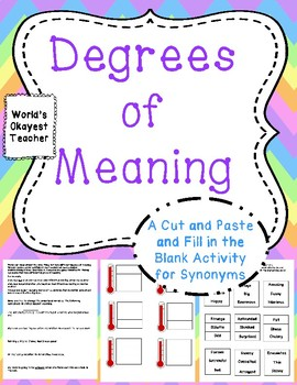 Degrees of Meaning: Cut and Paste and Fill in the Blank Us