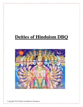 Deities of Hinduism DBQ - Common Core