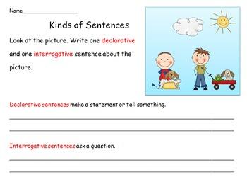 Delarative and Interrogative Sentences