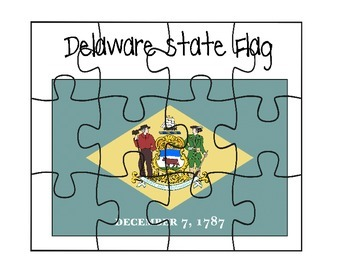 Delaware Flag Puzzle