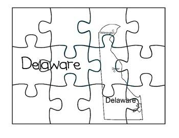 Delaware Map Puzzle