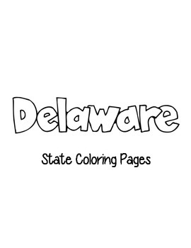 Delaware State Coloring Pages