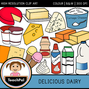 Delicious Dairy Clip Art - Food Groups