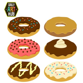 Delicious Donuts Clip Art - Great for Art Class Projects!