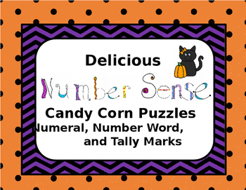 Delicious Number Sense Candy Corn Puzzles