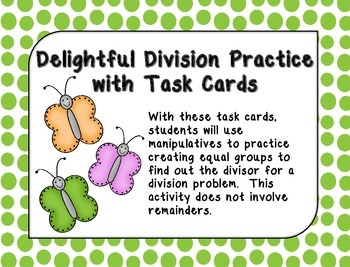 Delightful Division Practice- no remainders