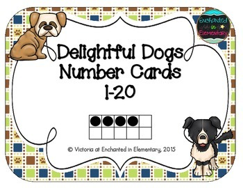Delightful Dogs Number Cards 1-20