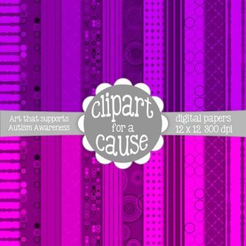 Deluxe Digital Papers: Dance Floor Inspired Pinks/Purples