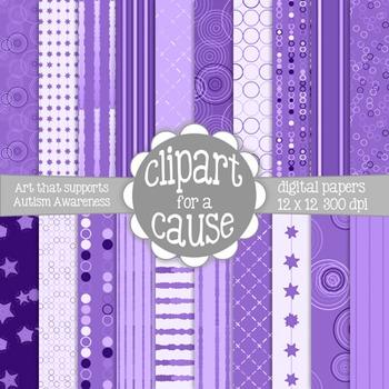 Deluxe Digital Papers: Lovely Lavender/Purples Scrapbook P