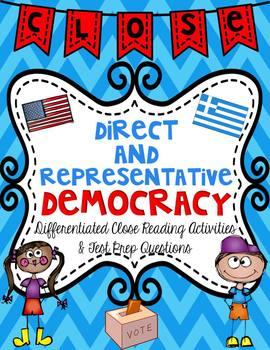 Democracy Close Reading Passages & Test Prep Questions Mini Unit