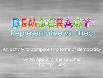 Government: Democracy Comparing Activity