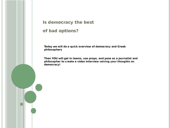 Democracy and Greek Philosophy GATE-- Is democracy the bes