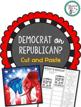 Democrat or Republican? Cut and Paste Sorting Activity