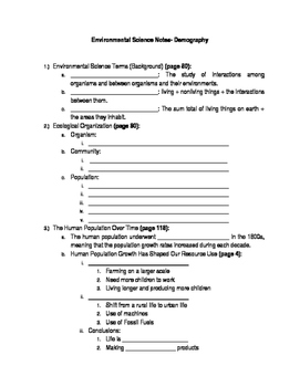 Demography: Student Guided Notes
