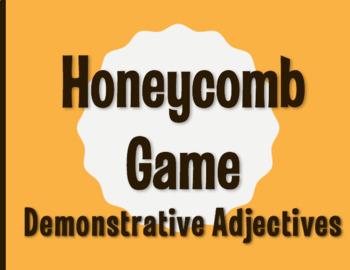 Spanish Demonstrative Adjective Honeycomb Partner Game
