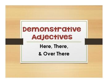 Spanish Demonstrative Adjective and Pronoun Notes